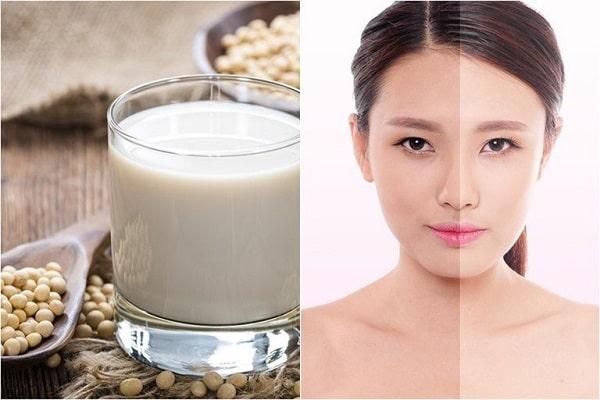 Cách làm trắng da mặt bằng sữa đậu nành