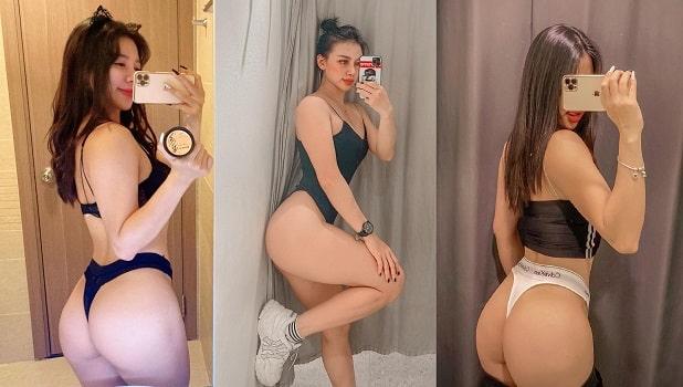 hot girl phòng gym